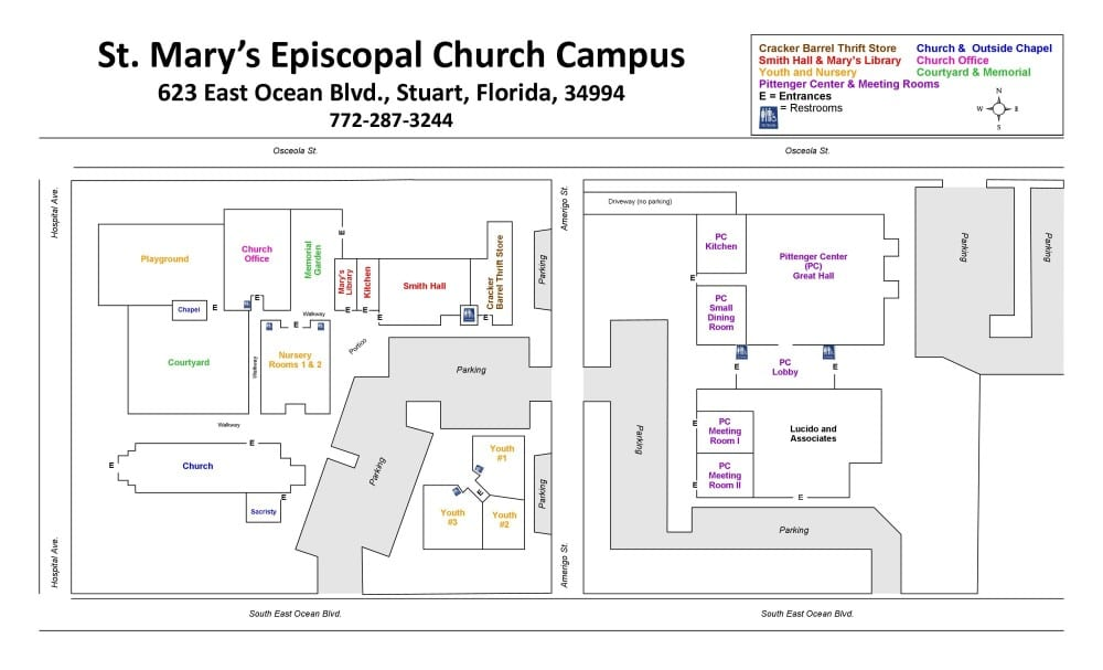 Campus Map St Mary S Episcopal Church