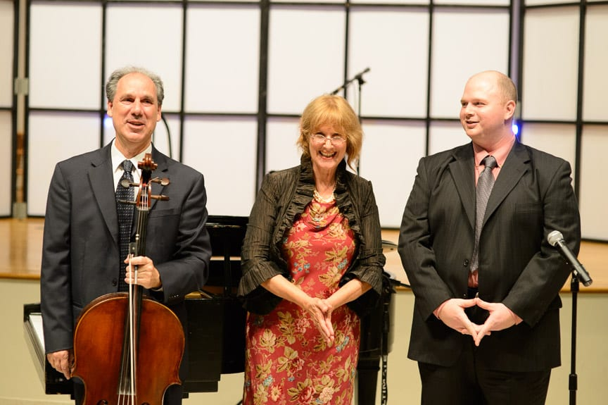 Claudio Jaffe, Joanne Nelson, and Brian McNiff